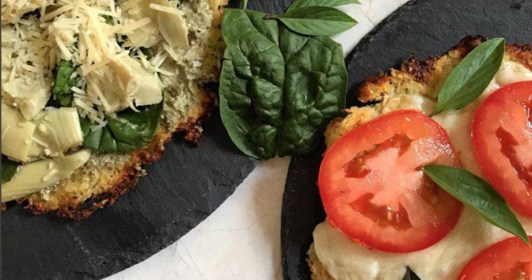 Pizza vegetariana con Costra de coliflor