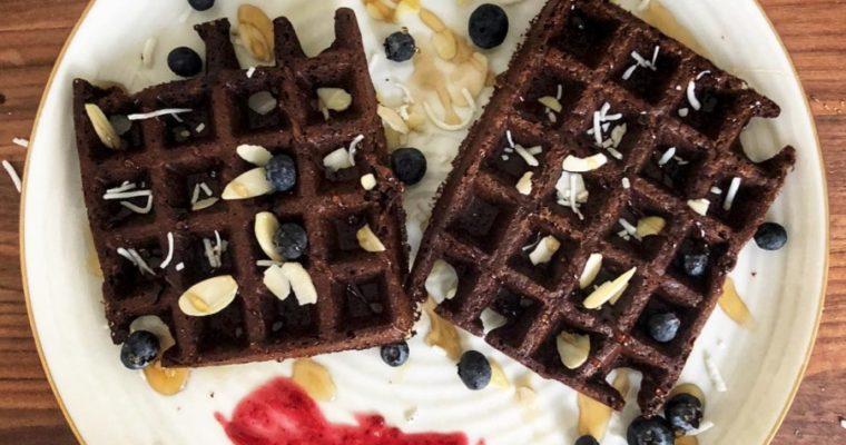 Choco coco gluten free waffles