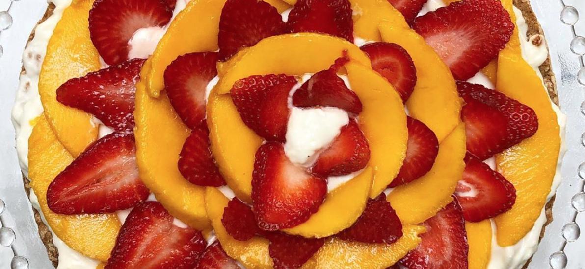 Mostachón de Mango y Fresa